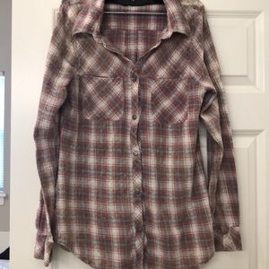 Bke plaid button down shirt size small